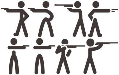 Shooting icons