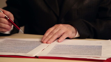 businessman working with documents, close-up of hands 2