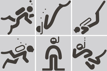 diving icons