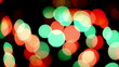 Beautiful colorful defocused bokeh festive lights as background