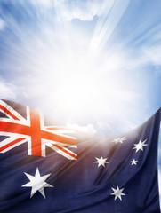 Australian flag and sky