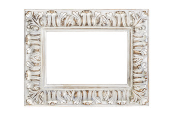 Picture frame isolated on white with clipping path
