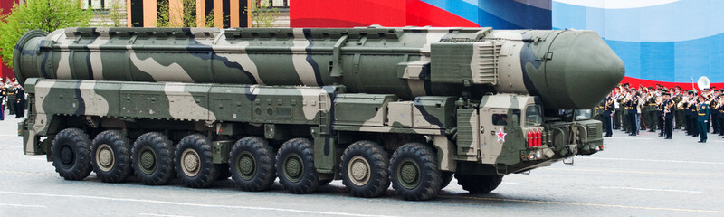 MOSCOW - 6 May 2010: Topol-M -  intercontinental ballistic missi