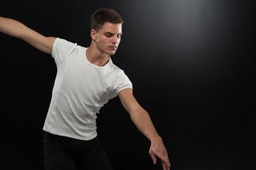 Young Ballet Dancer Dancing