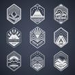 Mount badge set1white