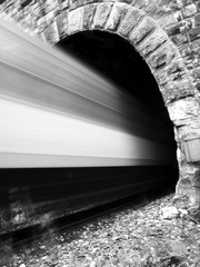 train comes out of the tunnel