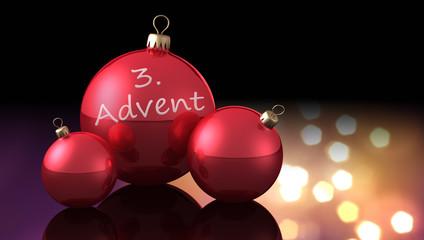 Weihnachtskugeln 3. Advent