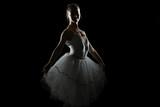 Silhouette Of Ballerina In The Black Studio