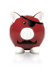 Red Pirate Piggy Bank
