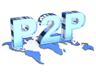 Global P2P (Peer to peer) architecture
