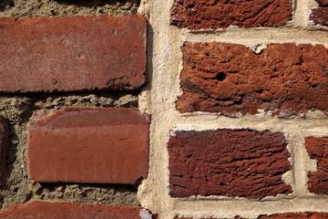 Briques rouges (détail de mur). Red brick (detail wall)