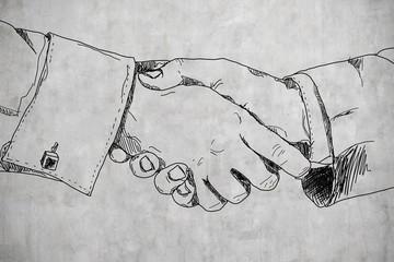 drawing handshake