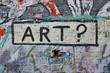 Leinwandbild Motiv Art ? Graffiti sur mur de briques dans la rue.