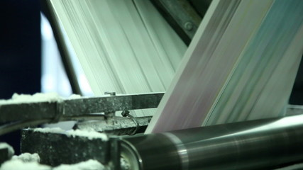 printing paper in printing house 1