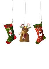 Weihnachtsstrümpfe und Nikolaussäckchen