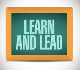 learn and lead board sign illustration