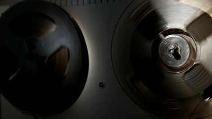 analog reel tape recorder, local lighting