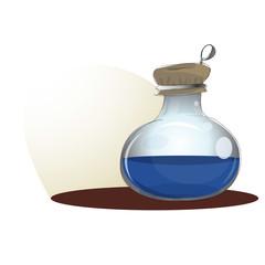 Blue Potion Bottle