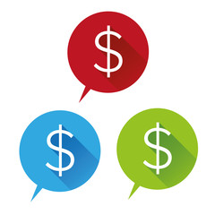 Money vector icon - US dollar sign