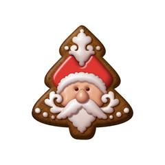 Christmas tree gingerbread cookie Santa Claus