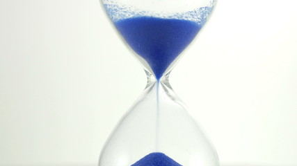 Hourglass against a white background. 3840X2160 4K UHD video