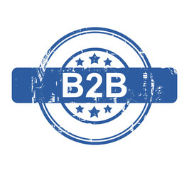 B2B business concept stamp
