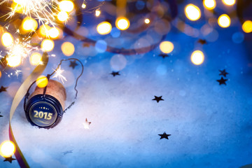 art Christmas and 2015 New year party background