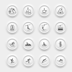 Winter Icons Buttons