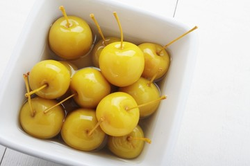 cherry apples in syrup