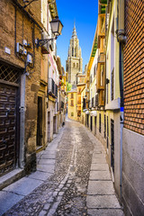 Toledo, Spain Alleyway viewing Toledo Cathedral