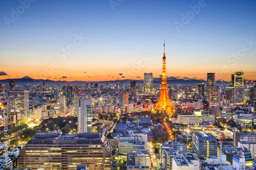 Foto op Aluminium Tokyo Tokyo, Japan Skyline
