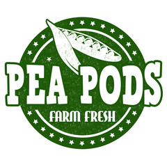 Pea pods stamp