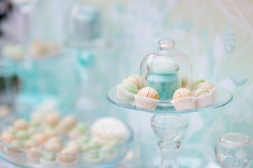 Sweet table on wedding  party