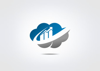 cloud Business icon web Symbol Technologi circle abstract
