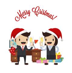 Christmas vector flat illustration