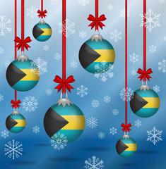 Christmas background flags Bahamas