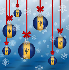 Christmas background flags Barbados