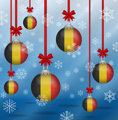Christmas background flags Belgium