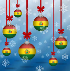 Christmas background flags Bolivia