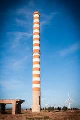 red and white chimney