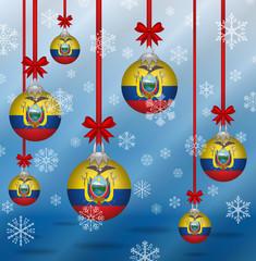 Christmas background flags Ecuador
