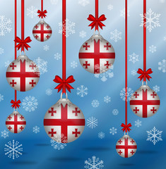 Christmas background flags Georgia