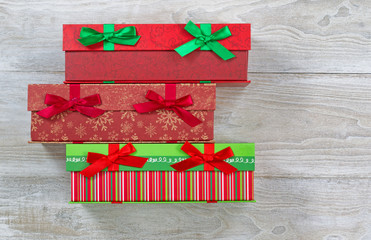 Gift Wrapped boxes for the holiday season