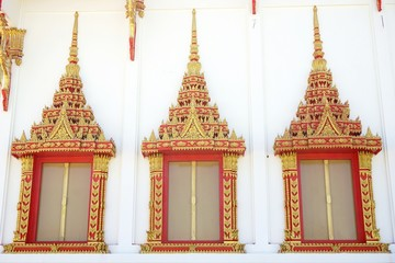 window of Thai Buddhist temple