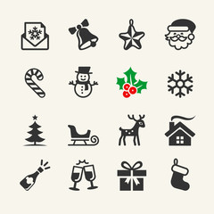Christmas Icons collection. Vector