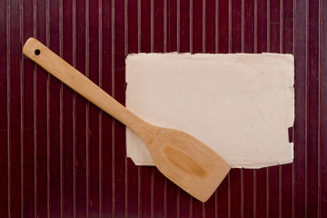 Wooden kitchen spatula