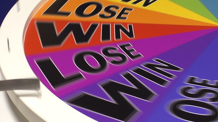 Wheel of fortune lands on Win