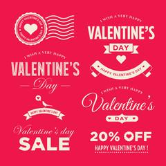 Valentines day set of label, badges, stamp and design elements