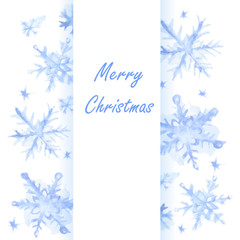 Christmas snowflakes background.