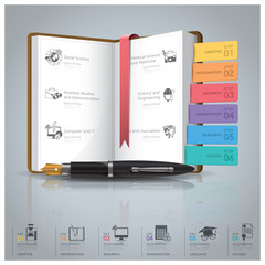 Education And Graduation Infographic With Book Icon Diagram